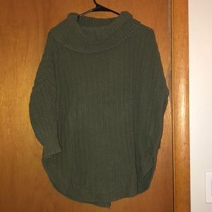 Express cowl neck sweater, 3/4 sleeve